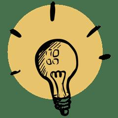 icône ampoule accesibilité et organisation