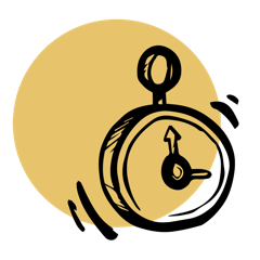 icône timer flexibilité et organisation