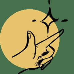 icône main facilité et organisation